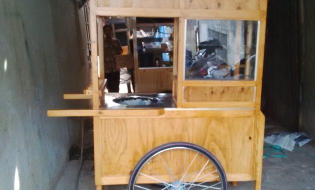 gerobak kayu minimalis